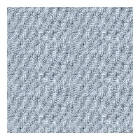Waylon Denim Faux Fabric Wallpaper - 20.5 x 396 x 0.025