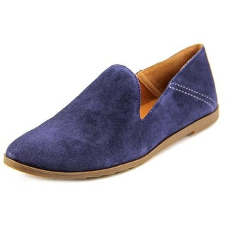 Franco Sarto Freeze Women Round Toe Suede Blue Loafer