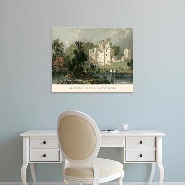 Easy Art Prints T. Allom's 'Brougham Castle, Westmoreland' Premium Canvas Art