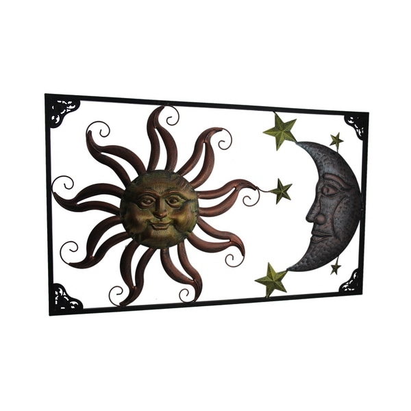 Shop Tri Tone Celestial Sun Moon And Stars Indoor Outdoor Metal Wall