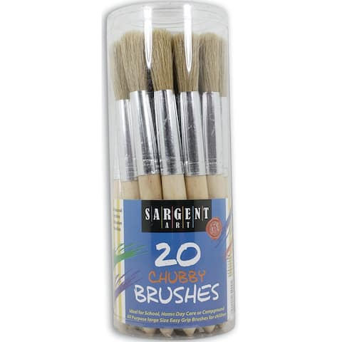 Sargent art 20ct jumbo brushes plastic handles 564000
