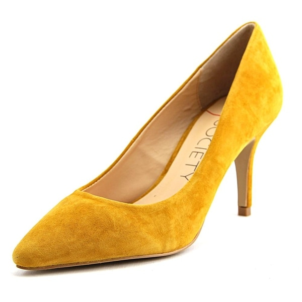 Sole Society Cahya Women Pointed Toe Suede Yellow Heels