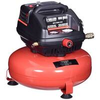 Gymax 3 Gallon 100 PSI Oil-Free Pancake Air Compressor 0.5 HP Motor Portable - red + black