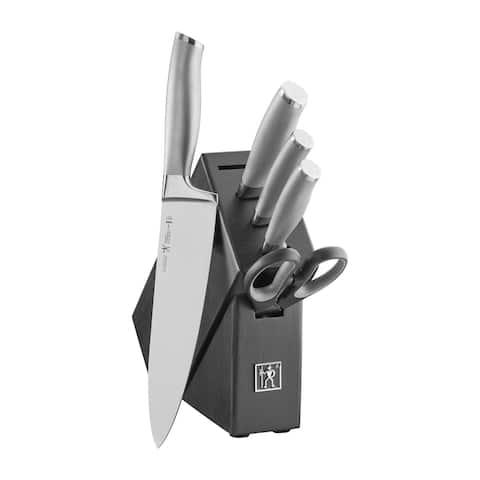 J.A. Henckels International Modernist 6-pc Studio Knife Block Set - Stainless Steel