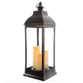 Large Bronze LED Lantern