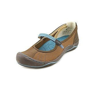 Jambu Womens BeachComber Closed Toe Slide Flats, Tobacca/Teal, Size 6.5