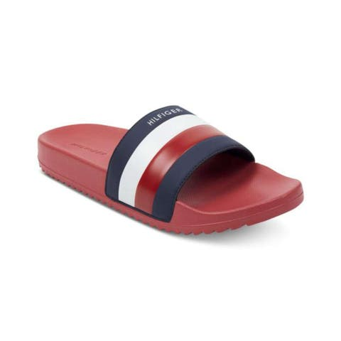 Tommy Hilfiger Mens Rox Open Toe Slip On Slippers - 7