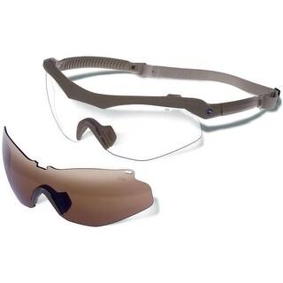 Gargoyles Trench Sunglasses (Interchangeable) Matte Tan Frame/Brown & Clear Lenses