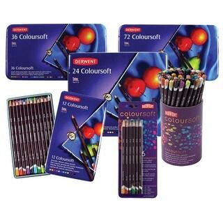 Derwent - Coloursoft Pencil Set - 24-Color Tin Set