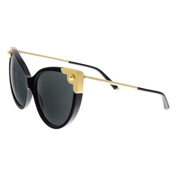 Shop Dolce   Gabbana DG4337 501 87 Black Cat Eye Sunglasses - No ... 1c2299de2f0d