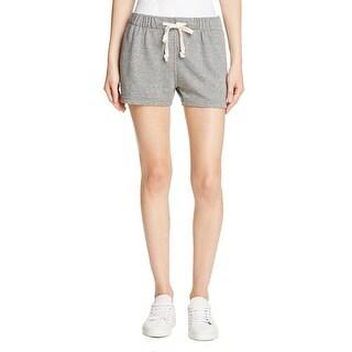 Current/Elliott Womens Casual Shorts Heathered Knit Drawstring