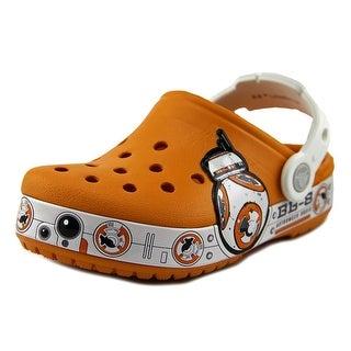 Crocs CC Star Wars Youth Round Toe Synthetic Orange Clogs