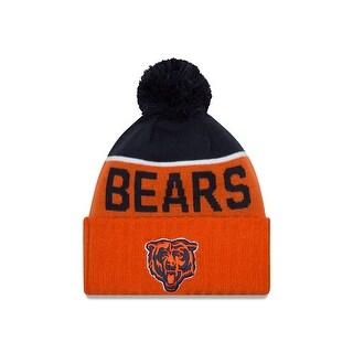Chicago Bears 2015 Sport Knit Classic Alternate Cuffed Pom Knit Cap