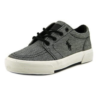 Polo Ralph Lauren Faxon II Youth Round Toe Canvas Black Sneakers