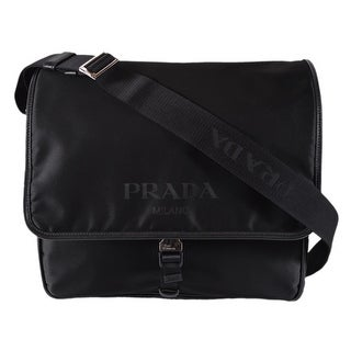 Prada Men's Black Nylon Leather Tracolla 2VD166 Messenger Crossbody Bag