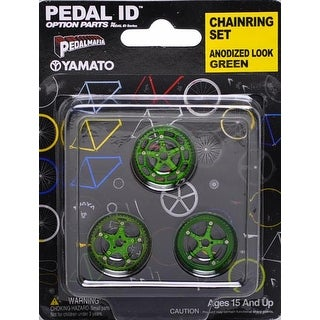 Pedal Id 1:9 Scale Bicycle: Chain Ring Set: Anodized Look Green