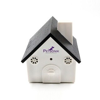 Petsonik Birdhouse Shaped Ultrasonic Outdoor Dog Bark Controller Sonic Bark Deterrent