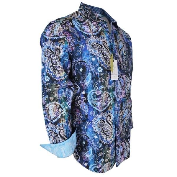 Robert Graham DRY CREEK Printed Paisley Button Down Sports Dress Shirt S
