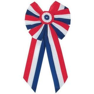 Holiday Trim 8268 Patriotic Velvet Bow, 6 Loop