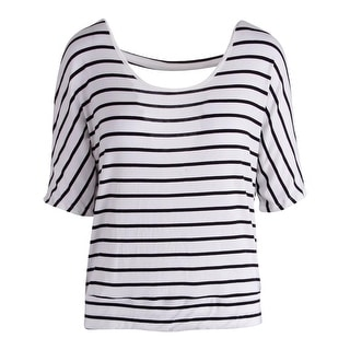 Rebellious One Womens Knit Striped Pullover Top