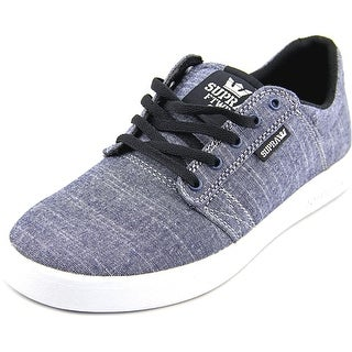 Supra Kids Westway Youth Round Toe Canvas Blue Sneakers