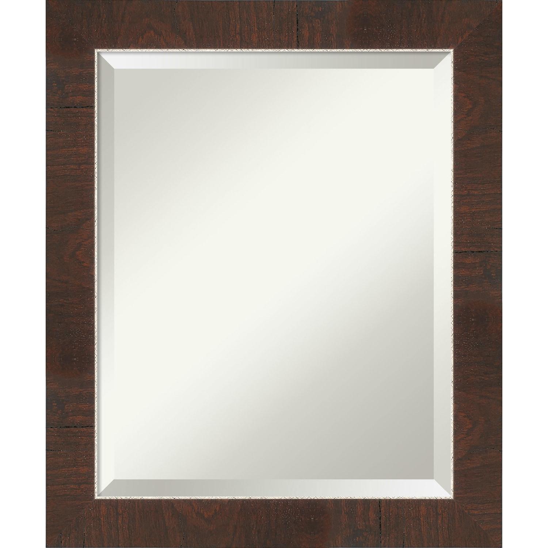 Small Mirror Framed Vanity Mirror Bathroom Mirrors For Wall Wildwood Brown Mirror Wall Mounted Mirror 25 25 X 21 25 In Bathroom Accessories Bath Princepalace Co Th