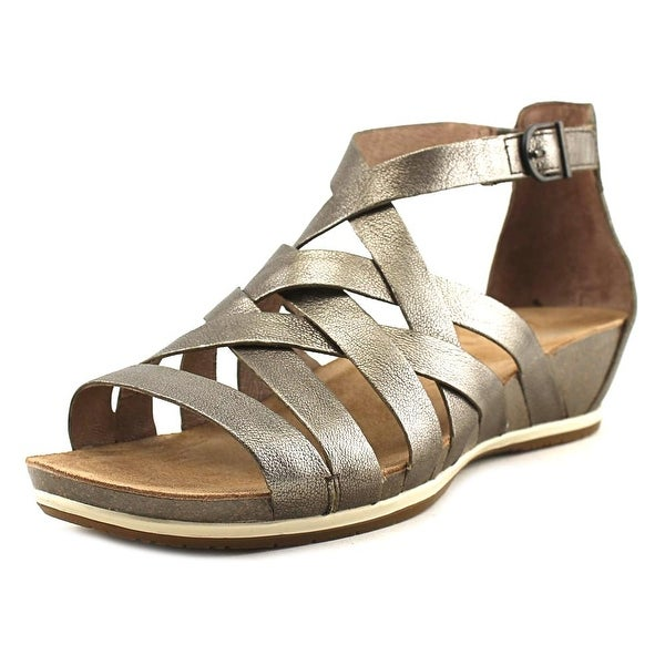 Dansko Vivian Women Open Toe Leather Bronze Gladiator Sandal