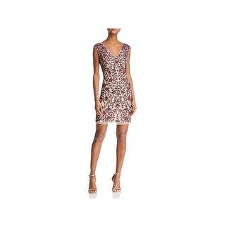 Aidan Mattox Womens Cocktail Dress Embellished Sleeveless