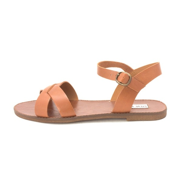 Steve Madden Womens Dublinr Leather Open Toe Beach Strappy Sandals - 8.5