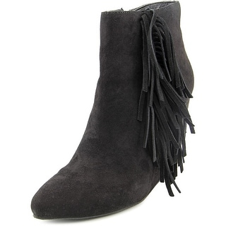 Madden Girl Pave Women Round Toe Suede Black Ankle Boot