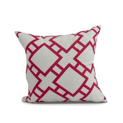 20 x 20 Inch Square in St. Louis Geometric Print Outdoor Pillow
