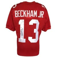 Odell Beckham Jr. Signed Custom Pro-Style Red Football Jersey JSA