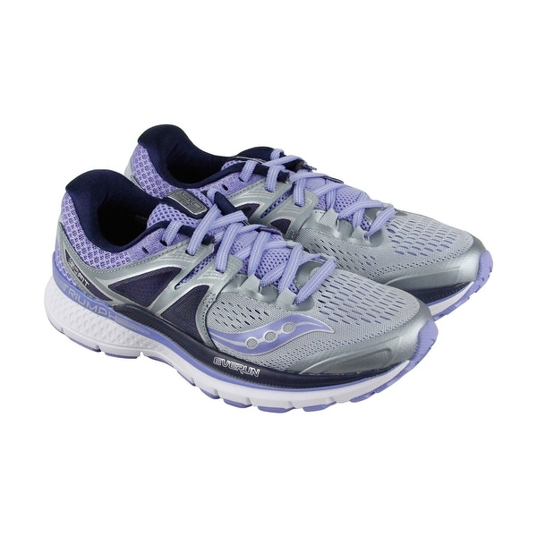 8f4187ed Saucony Triumph Iso 3 Womens Gray Purple Mesh Athletic Lace Up Running Shoes