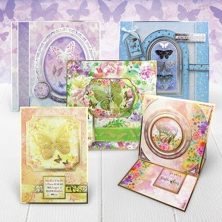 Hunkydory Flutterbye Rainbow Luxury A4 Card Collection-
