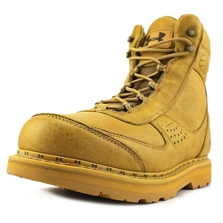 Under Armour Lindig Leather Men  Round Toe Synthetic Tan Combat Boot