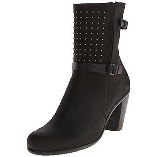 ECCO Womens Touch 75 Mid-Calf Boots Leather Round Toe