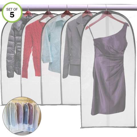 Evelots PEVA Garment Bag-Full Zipper-Suit Storage-Closet-Travel-Dust Cover