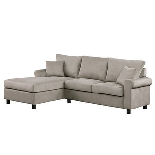 Link to Merax Grey L-Shaped Couch for Small Space Similar Items in Living Room Furniture