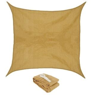 sunnydaze beige square sun shade sail multiple options