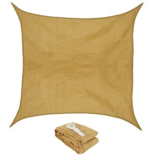 Sunnydaze Beige Square Sun Shade Sail - Multiple Options