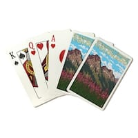Steamboat Springs CO - Mountain Scene - LP Artwork (Poker Playing Cards Deck)