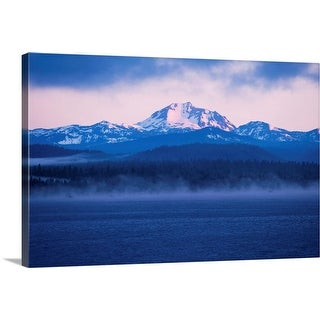 """""""Lake with mountains in the background, Mt Lassen, California"""" Canvas Wall Art"""