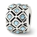 Sterling Silver Reflections March Swarovski Elements Bead (4mm Diameter Hole) - Thumbnail 0