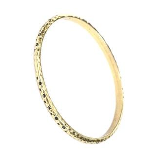 Antique Gold Hammered/Textured Bangle Bracelet
