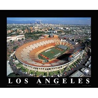 ''Los Angeles Coliseum, University of Southern California'' by Mike Smith Stadiums Art Print (22 x 28 in.)
