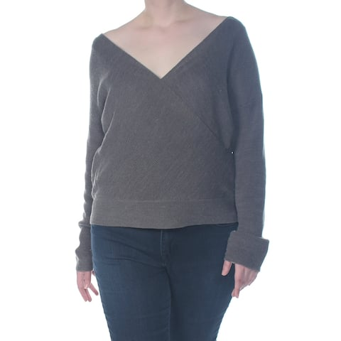 BAR III Womens Gray V Neck Sweater Size XXL