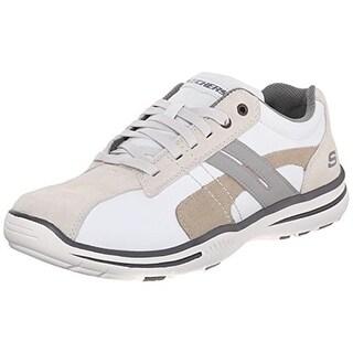 Skechers Mens Leather Memory Foam Fashion Sneakers - 7 medium (d)