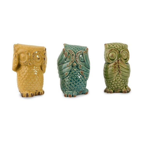 IMAX Home 69230-3 Wise Owls - Set of 3
