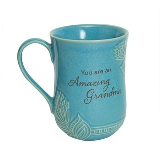 Link to Abbey and Ca Gift You Are an Amazing Grandma Mug - 14 oz. Coffee Mug with Floral Accent, Blue - 5 Inch x 3.5 Inch Similar Items in Dinnerware