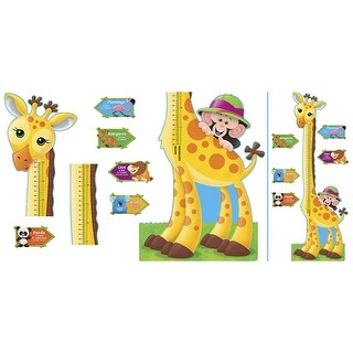 Trend Enterprises Giraffe Growth Bulletin Board Chart Set